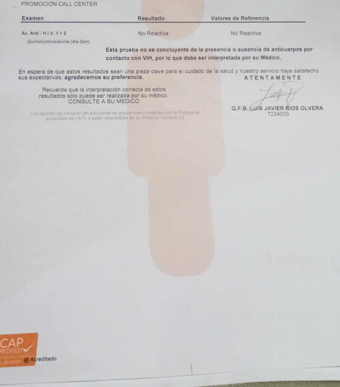 AYUDA CON INTERPRETACIÓN DE EXAMEN ELISA 4TA GENERACION ...
